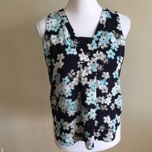 NWOT Lord & Taylor Blue Floral Shirt